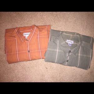 Set of 2 Carhartt 2XL, short sleeve